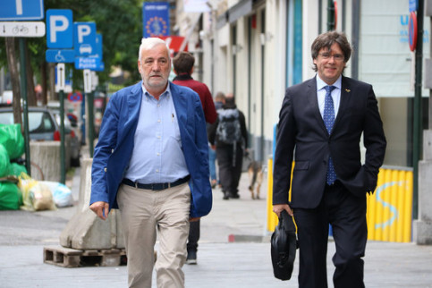 The former Catalan president has raised concerns that he is being spied on (by Natàlia Segura)