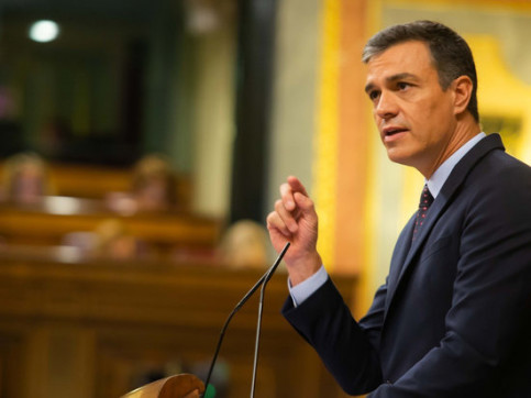 The Spanish president, Pedro Sánchez, talking before Spain's congress on September 11, 2019 (by Congress)