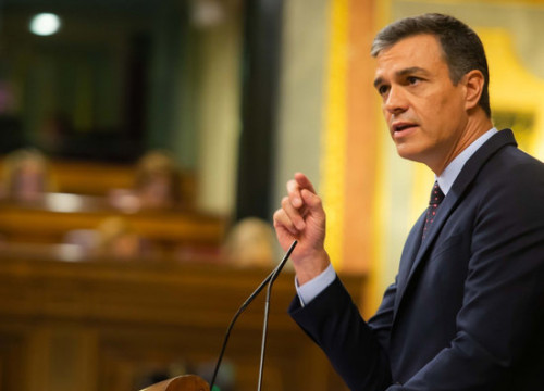 Pedro Sánchez in the Spanish congress on September 11, 2019 (by Spanish Congress)