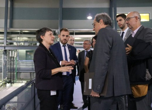 The Catalan president, Quim Torra, during a visit in the ALBA synchrotron on September 18, 2019 (by Norma Vidal)