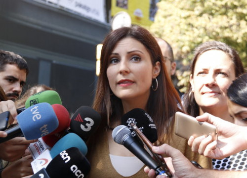 The leader of Ciutadans in Catalonia, Lorena Roldán, on September 20, 2019 (by Gerard Artigas)