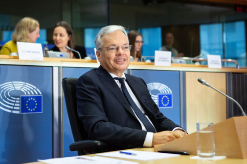 EU justice commissioner candidate Didier Reynders sitting in the European Chamber on October 2, 2019 (by European Commission)