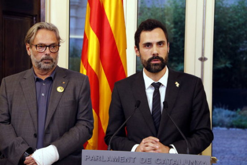 Roger Torrent was backed by ex-speakers of Parliament in his views (by Jordi Bataller)