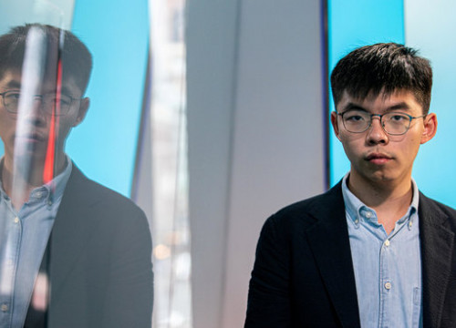 Joshua Wong has criticised state violence amidst the current situation in Catalonia (by Reuters/Jeenah Moon)