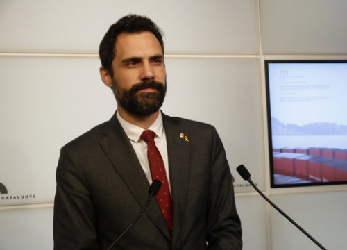 Catalan Parliament speaker Roger Torrent (by Guillem Roset)
