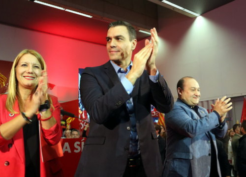 The Spanish acting president, Pedro Sánchez, during an event in Viladecans on October 30, 2019 (by Àlex Recolons)