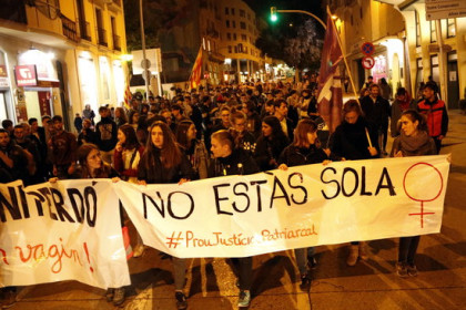 Protest against the Manresa gang-rape trial verdict (by Laura Busquets)