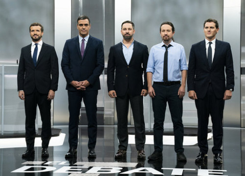 The leaders of Spain's main political parties (by PP)