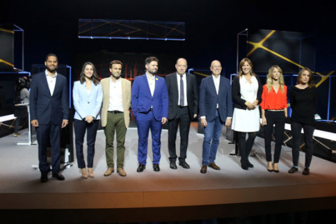 Representatives of Catalan political parties who took part in the TV3 debate ahead of the November 10 general election (by Miquel Codolar)