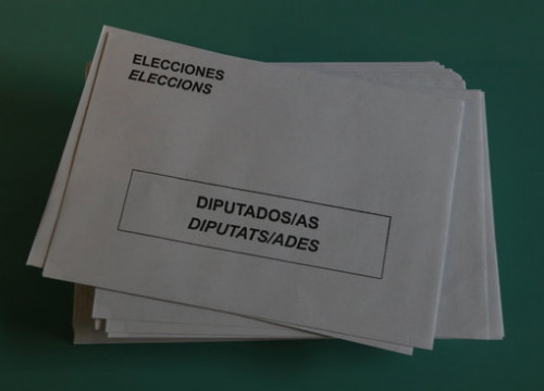 A ballot envelope in the November 10, 2019, Spanish general election (by Elisenda Rosanas)