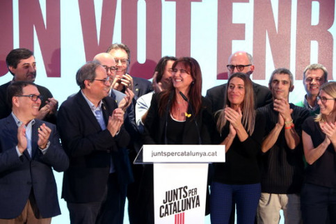 Junts per Catalunya celebrates its improved results on November 10 (by ACN)