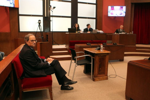 Quim Torra appears in the Catalan High Court for his disobedience case in November, 2019 (by Pere Francesch)