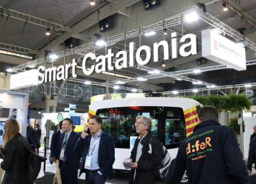 The Smart Catalonia stand at the 2019 Smart City Expo World Congress (by Maria Belmez)