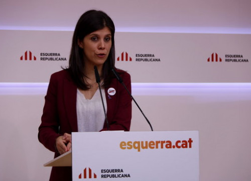 Esquerra spokesperson Marta Vilalta speaks in a press conference (by Guillem Roset)
