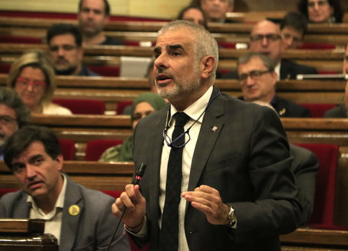 Ciutadans' Carlos Carrizosa speaking in the Catalan Parliament on November 27, 2019 (by Sílvia Jardí)