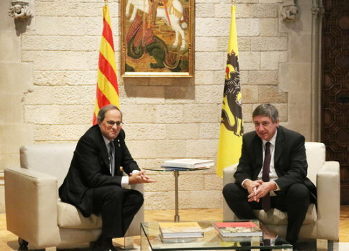 Catalan president Quim Torra meets with the president of Flanders, Jan Jambon (by Norma Vidal)