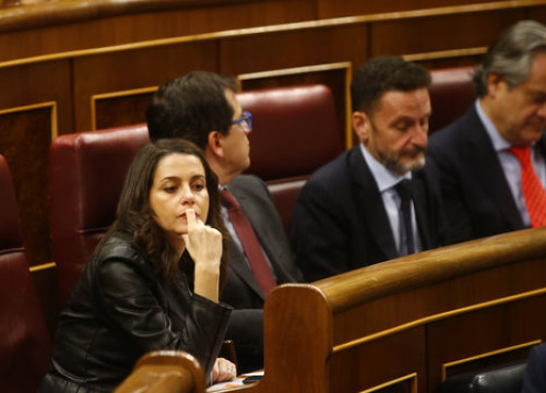 Image of Ciutadans' leader, Inés Arrimadas, on December 3, 2019 (by Javier Barbancho)