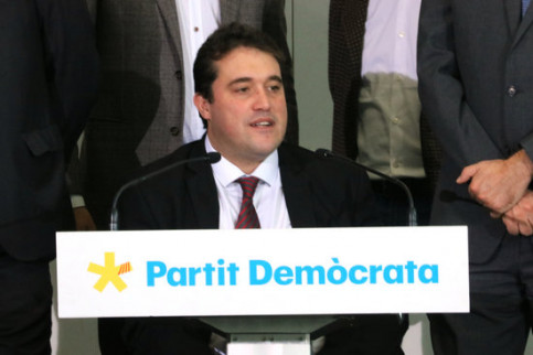 President of the PDeCAT party, David Bonvehí, in a press conference on December 13, 2019 (by Bernat Vilaró)