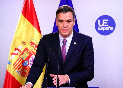 Acting Spanish president Pedro Sánchez in a press conference on Friday December 13, 2019 (by Nazaret Romero)