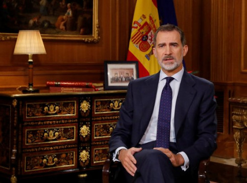 King Felipe VI, during his Christmas message on December 24, 2019 (by Pool EFE)