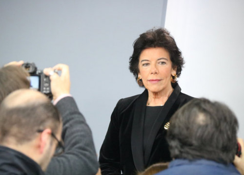 Socialists' government spokesperson, Isabel Celaá, in a press conference on December 27, 2019 (by Roger Pi de Cabanyes)