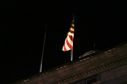 Image of the Catalan government's HQ without Spanish flag on January 3, 2020 (by Miquel Codolar)