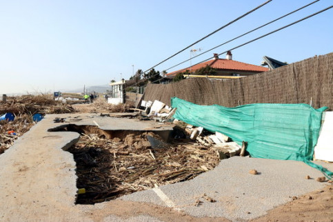 Image of the damage in a campsite in Malgrat de Mar, north of Barcelona (by Norma Vidal)