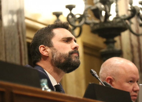 Parliament speaker Roger Torrent during a plenary session on Monday, January 27, 2020 (by Mariona Puig)