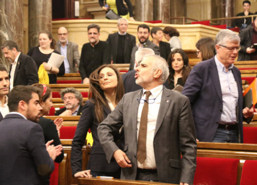 Senior members of the unionst Ciutadans party in the Catalan parliament on January 27, 2020 (by Mariona Puig)