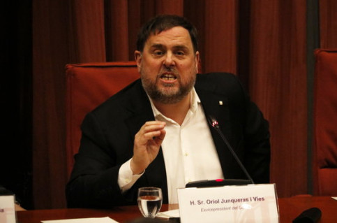 Former Vice President Oriol Junqueras, speaking to the Parliamentary Commission, January 28, 2020 (by Gerard Artigas)