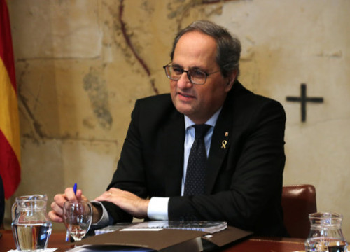 President of the Government, Quim Torra, during a meeting of the Executive Board, January 29, 2020 (by Bernat Vilaró)