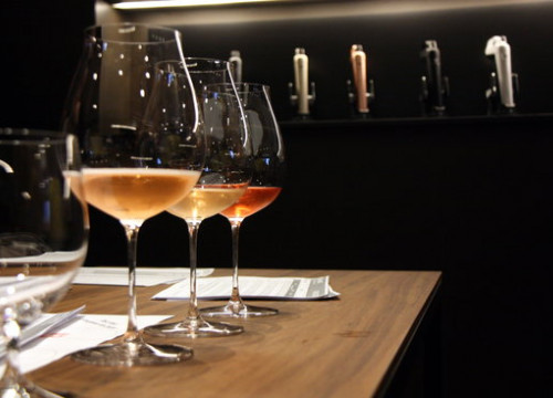 Three wine glasses during the Barcelona Rosé International Bubbles Awards, on January 30, 2020 (by Inés Valverde)