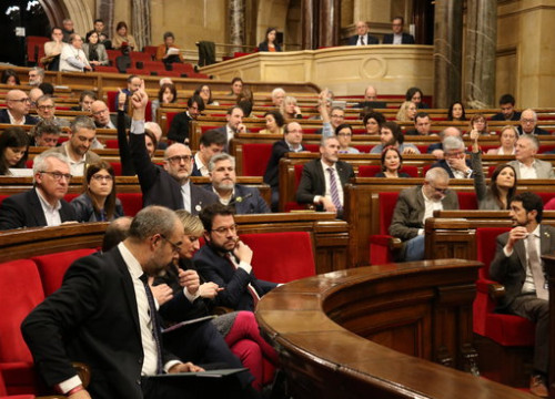A Catalan parliament session bin February 2020 (by Marta Sierra)