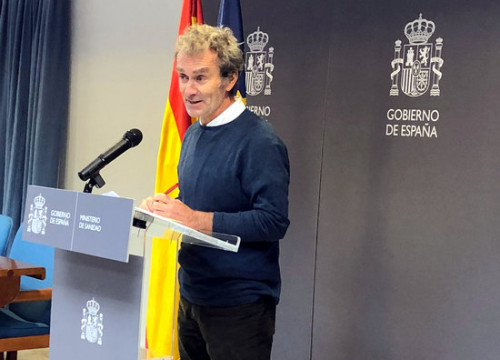 Fernando Simón of the Health Emergency Coordination Centre confirms the second case of coronavirus in Spain, February 9, 2020 (Spanish Ministry of Health)