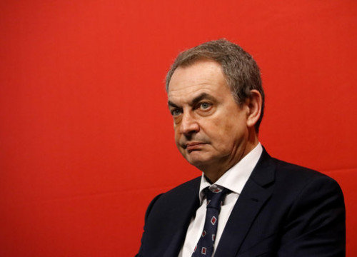 Former Spanish President José Luis Rodríguez Zapatero at an event in Barcelona, February 12, 2020 (by Blanca Blay)