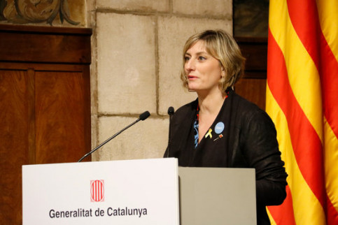 Health Minister Alba Vergés, February 14, 2020 (by Blanca Blay)