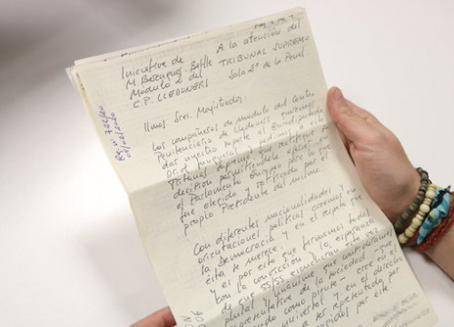 The letter by the prisoners of Lledoners prison sent to the Supreme Court and the European Parliament, February 14, 2020 (Pol Solà)