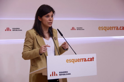 ERC Deputy Secretary General, Marta Vilalta, at a press conference, February 17, 2020 (by Guillem Roset)