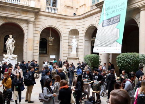 General shot of the Barcelona Tech Spirit event in the Casa Llotja de Mar building (by Maria Belmez)
