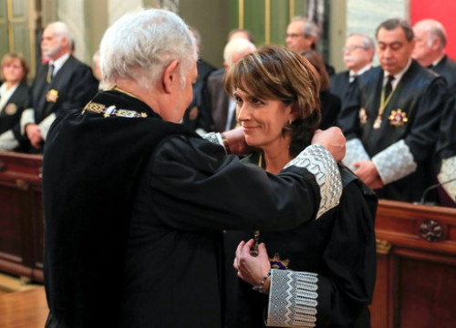 Image of Dolores Delgado on her swearing-in as general prosecutor, on February 26, 2020 (by Pool EFE)