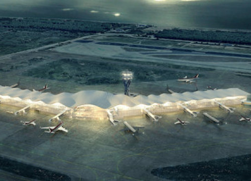 Image of what a future terminal at Barcelona-El Prat Airport may look like, February 27, 2020 (AENA)