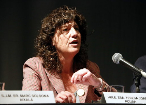 The agriculture minister, Teresa Jordà, during an event in Mollerussa, western Catalonia, on March 6, 2020 (by Oriol Bosch)