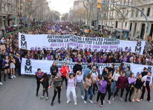 Feminist rally in Barcelona for International Women's Day 2020, March 8 2020 (by Miquel Codolar)
