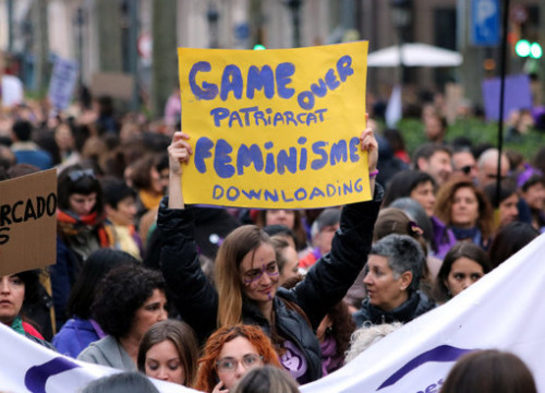 2020 International Women's Day march in Barcelona, March 8, 2020 (by Miquel Codolar)