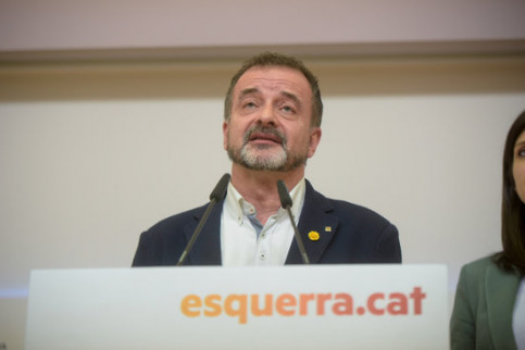 The former Catalan foreign minister, Alfred Bosch, in a press conference on March 9, 2020 (by ERC/Marc Puig)