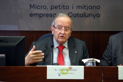 President of PIMEC business association, Josep González, March 11, 2020 (by Marta Casado Pla)