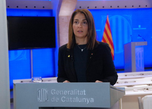 Meirtxell Budó, Catalan government spokesperson, March 31, 2020 (by Catalan government)