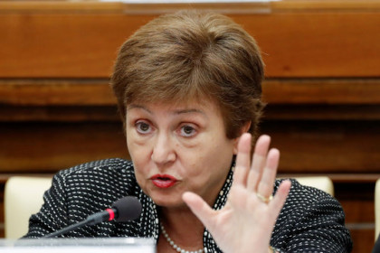 IMF director general, Kristalina Georgieva, photographed during a conference in April 2020 (Reuters)
