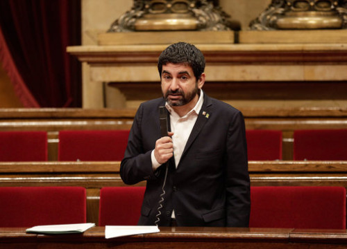 Work, social affairs and families minister Chakir el Homrani in parliament, April 24, 2020 (Parlament/Job Vermeulen)