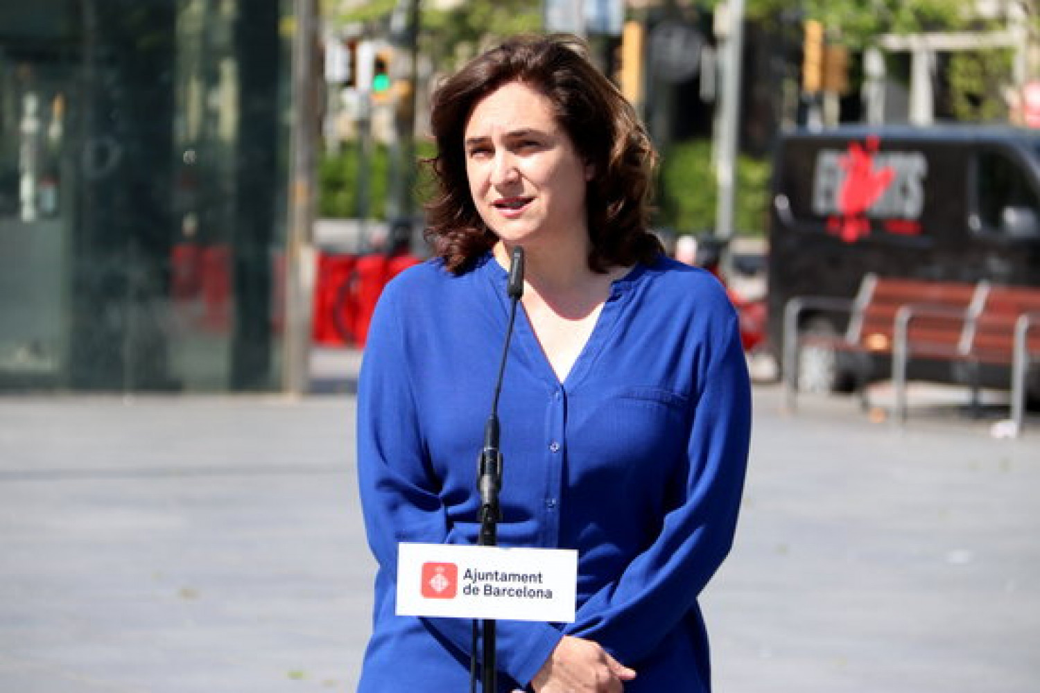 Barcelona mayor Ada Colau, April 25, 2020 (by Mar Vila)